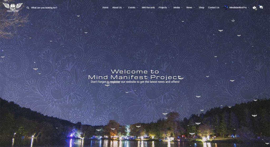 Mind Manifest Project Website Screenshot